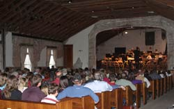 Audience at Harrington Band Concert