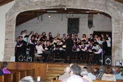 BelCanto & Tapestry Choral Groups on stage