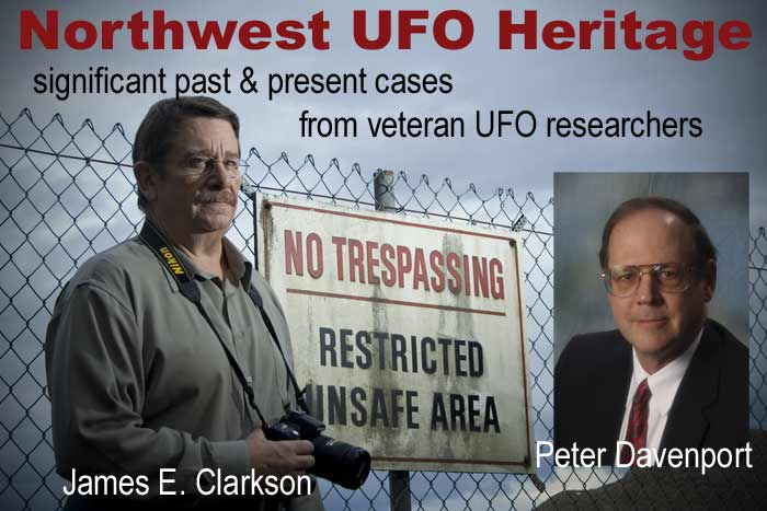 Northwest UFO Heritage - Presentation with James Clarkson & Peter Davenport - photos including No Trespassing Sign