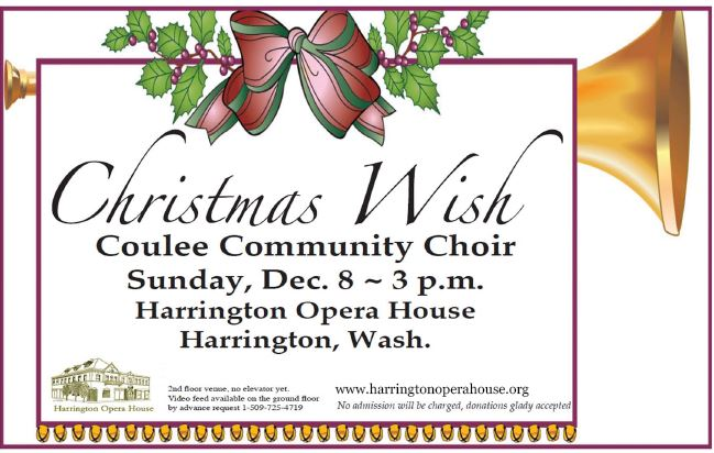 Coulee Community Choir Concert Poster