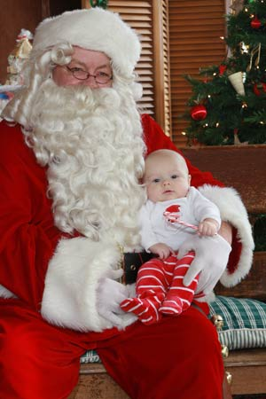 First Visit with Santa!